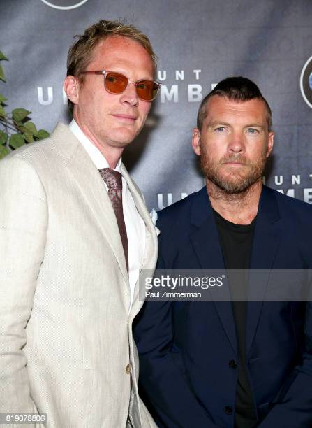 Paul Bettany and Sam Worthington attend Discovery's 'Manhunt Unabomber' World Premiere at the Appel Room at Jazz at Lincoln Center's Frederick P Rose...