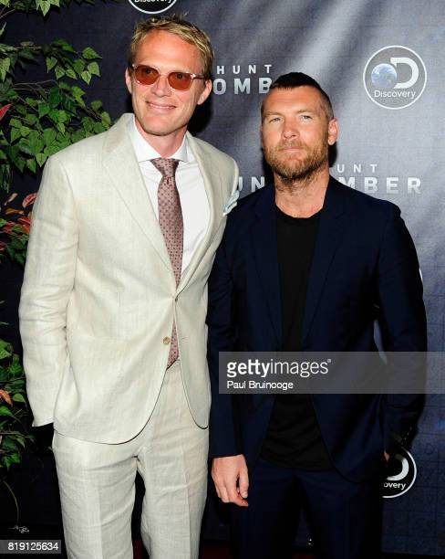 Paul Bettany and Sam Worthington attend Discovery's Manhunt Unabomber World Premiere at Appel Room at Jazz at Lincoln Centers Frederick P Rose Hall...