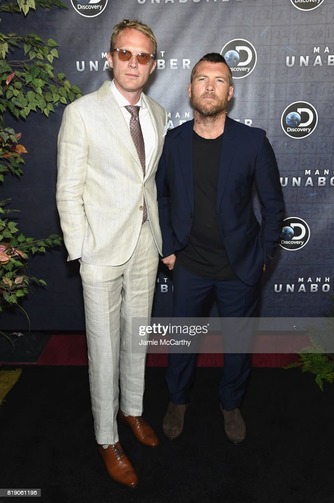 Paul Bettany and Sam Worthington attend the Discovery's 'Manhunt: Unabomber' World Premiere at the Appel Room at Jazz at Lincoln Center Frederick P. Rose Hall on July 19, 2017 in New York Cit