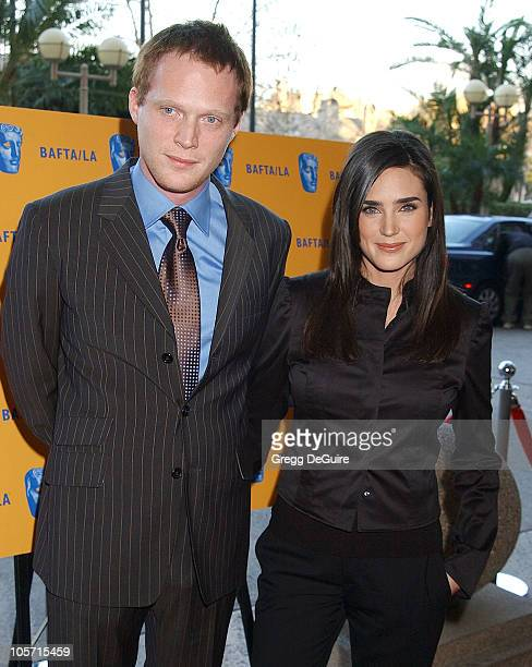 Paul Bettany and wife Jennifer Connelly during The 9th Annual BAFTA/LA Tea Party at Park Hyatt Hotel in Los Angeles, California, United States.