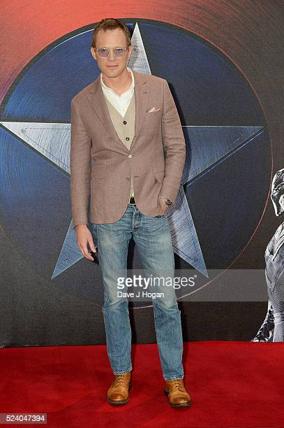 Paul Bettany attends a photocall for 'Captain America Civil War' at Corinthia Hotel London on April 25 2016 in London England