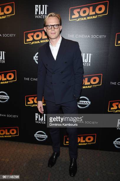 Paul Bettany attends a screening of 'Solo A Star Wars Story' hosted by The Cinema Society with Nissan FIJI Water at SVA Theater on May 21 2018 in New...