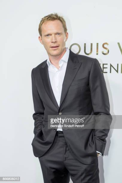 Paul Bettany attends the Opening Of The Louis Vuitton Boutique as part of the Paris Fashion Week Womenswear Spring/Summer 2018 on October 2 2017 in...