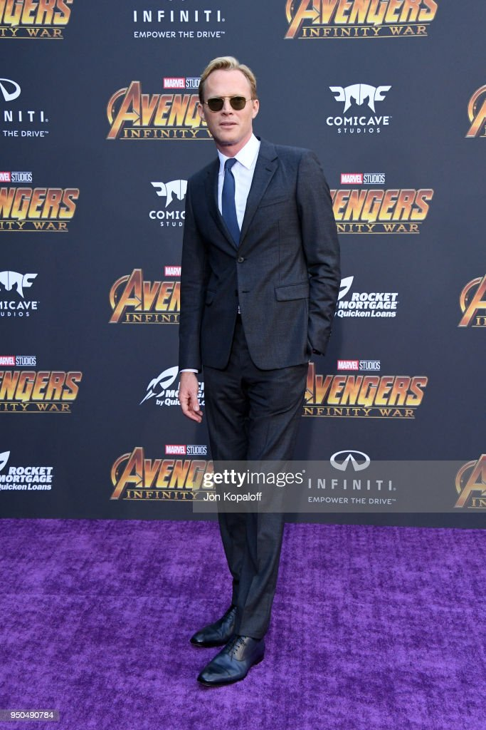 Paul Bettany attends the premiere of Disney and Marvel's 'Avengers: Infinity War' on April 23, 2018 in Los Angeles, California.
