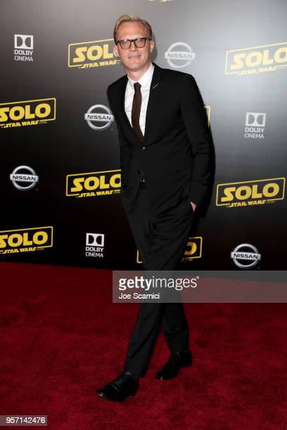 Paul Bettany attends the premiere of Disney Pictures and Lucasfilm's Solo A Star Wars Story at the El Capitan Theatre on May 10 2018 in Hollywood...