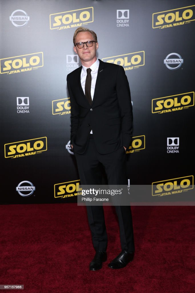 Paul Bettany attends the premiere of Disney Pictures and Lucasfilm's 'Solo: A Star Wars Story' at the El Capitan Theatre on May 10, 2018 in Hollywood, California.