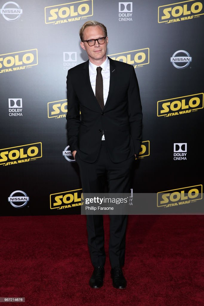Paul Bettany attends the premiere of Disney Pictures and Lucasfilm's 'Solo: A Star Wars Story' on May 10, 2018 in Hollywood, California.