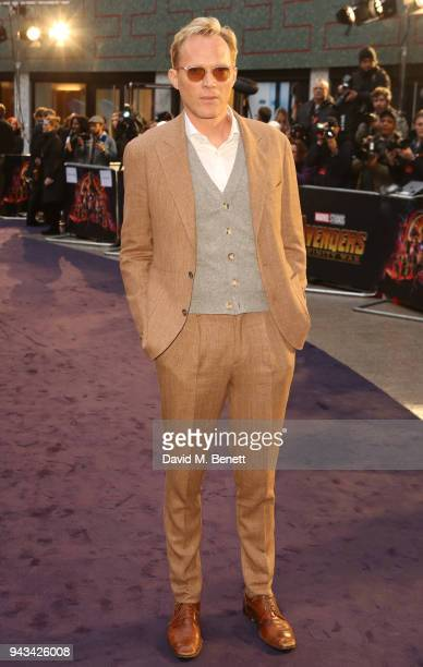 Paul Bettany attends the UK Fan Event for Avengers Infinity War at the Television Studios White City on April 8 2018 in London England