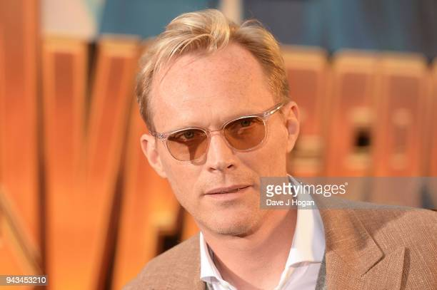 Paul Bettany attends the UK Fan Event for Avengers Infinity War at Television Studios White City on April 8 2018 in London England