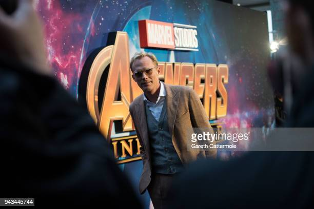 Paul Bettany attends the UK Fan Event to celebrate the release of Marvel Studios' 'Avengers: Infinity War' at The London Television Centre on April...