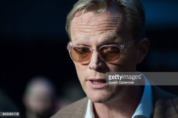 Paul Bettany attends the UK Fan Event to celebrate the release of Marvel Studios' 'Avengers Infinity War' at The London Television Centre on April 8...