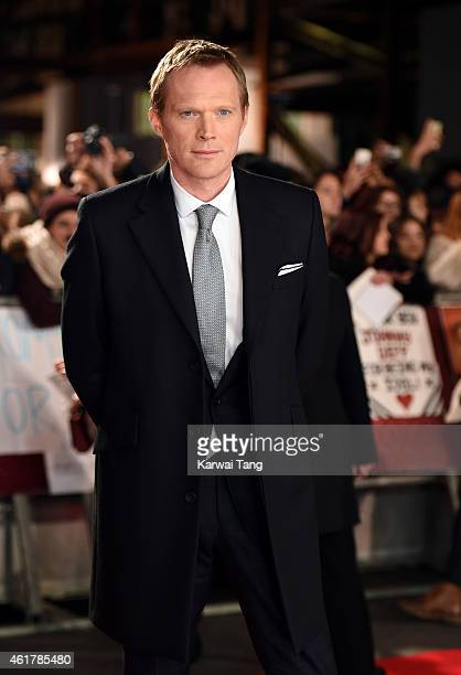 Paul Bettany attends the UK Premiere of 'Mortdecai' at Empire Leicester Square on January 19 2015 in London England