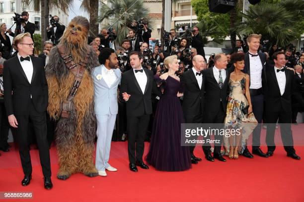 Paul Bettany Chewbacca Donald Glover Alden Ehrenreich Emilia Clarke director Ron Howard Woody Harrelson Thandie Newton Joonas Suotam and producer...