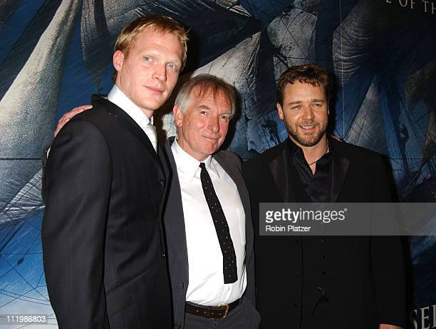 Paul Bettany Director Peter Weir and Russell Crow