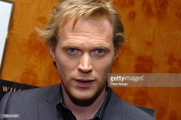 Paul Bettany during New York Premiere of The Reckoning Cocktail Reception at Brasserie 8 1/2 in New York City New York United States