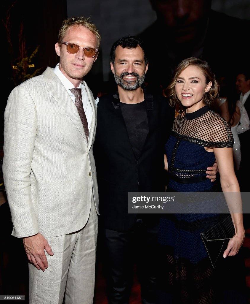 Paul Bettany, Greg Yaitanes and Trieste Kelly Dunn attend the Discovery's 'Manhunt: Unabomber' World Premiere at the Appel Room at Jazz at Lincoln Center Frederick P. Rose Hall on July 19, 2017 in New York Cit