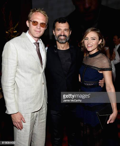 Paul Bettany Greg Yaitanes and Trieste Kelly Dunn attend the Discovery's 'Manhunt Unabomber' World Premiere at the Appel Room at Jazz at Lincoln...