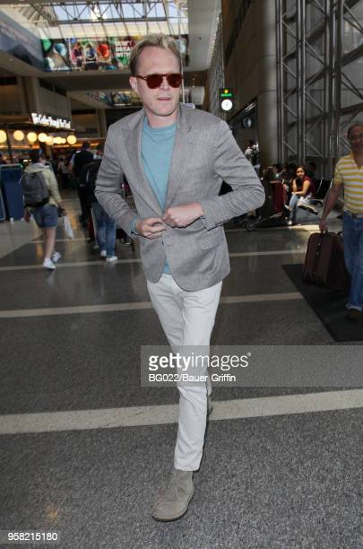 Paul Bettany is seen at LAX on May 13 2018 in Los Angeles California