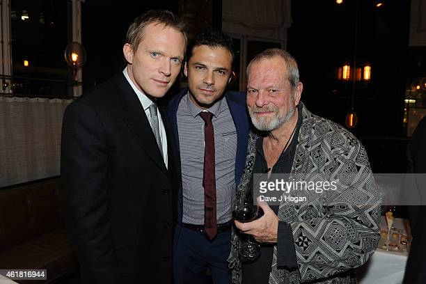 Paul Bettany Jonny Pasvolsky and Terry Gilliam attend the after party for the UK Premiere of 'Mortdecai' at Corinthia Hotel London on January 19 2015...