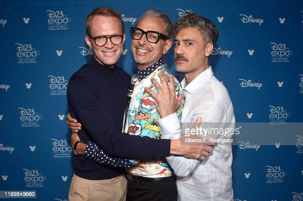 Paul Bettany of 'WandaVision,' Jeff Goldblum of 'The World According To Jeff Goldblum,' and Taika Waititi of 'The Mandalorian' took part today in the...
