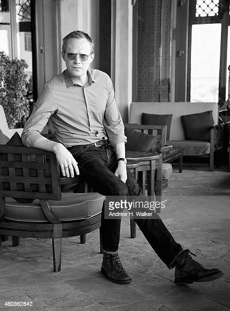 Paul Bettany poses during a portrait session on day three of the 11th Annual Dubai International Film Festival held at the Madinat Jumeriah Complex...