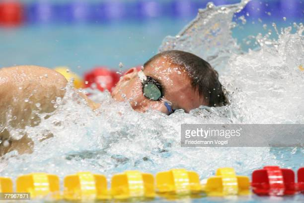 Paul Biedermann of Germany competes in the men's 200m freestyle during the FINA Swimming World Cup on November 18, 2007 in Berlin, Germany.