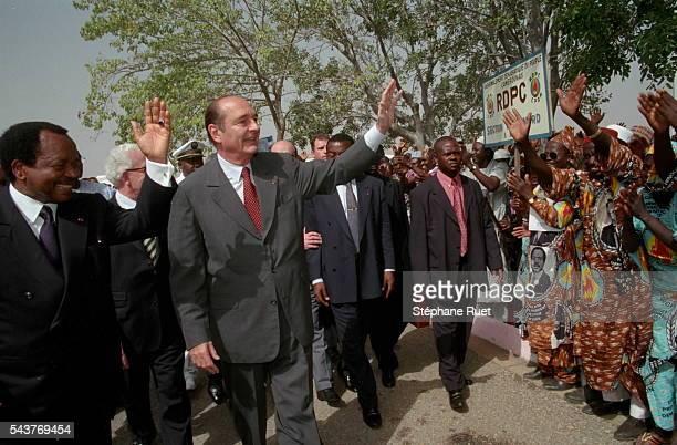 Paul Biya and Jacques Chirac in Garoua.