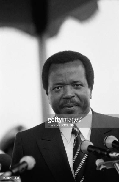 Paul Biya, président camerounais, le 13 oût 1985 à Yaoundé, Cameroun.