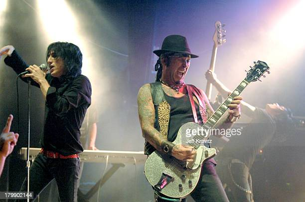 Paul Black and Tracii Guns of LA Guns during 20th Anniversary of The Cathouse in West Hollywood at Key Club in West Hollywood California United States