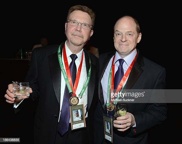 Paul Blakemore and Dan Rundin during the 2012 Person of the Year honoring Caetano Veloso at the MGM Grand Garden Arena on November 14 2012 in Las...