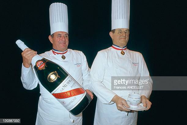Paul Bocuse at the Grevin museum in Paris France