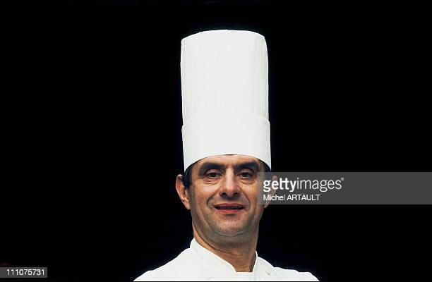 Paul Bocuse in his kitchen in Lyon France in February 1976