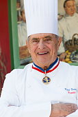 Paul bocuse poses at his restaurant in collongeaumontdor near lyon on picture id158460247?s=170x170