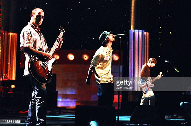 """Paul """"Bonehead"""" Arthurs, Noel Gallagher and Liam Gallagher of Oasis"""