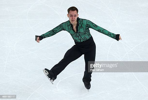 Paul Bonifacio Parkinson of Italy competes during the Men's Figure Skating Short Program on day 6 of the Sochi 2014 Winter Olympics at the at Iceberg...