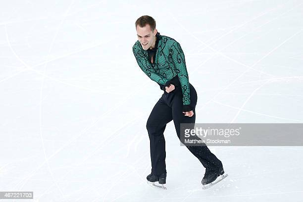 Paul Bonifacio Parkinson of Italy competes in the Figure Skating Men's Short Program during the Sochi 2014 Winter Olympics at Iceberg Skating Palace...