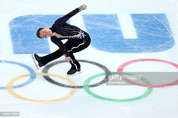Paul Bonifacio Parkinson of Italy competes in the Men's Figure Skating Men's Free Skate during day two of the Sochi 2014 Winter Olympics at Iceberg...