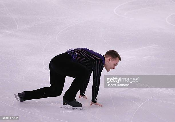 Paul Bonifacio Parkinson of Italy competes in the Men's Figure Skating Men's Free Skate during day 2 of the Sochi 2014 Winter Olympics at Iceberg...