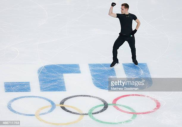 Paul Bonifacio Parkinson of Italy practices during Figure Skating training ahead of the Sochi 2014 Winter Olympics at Iceberg Skating Palace on...
