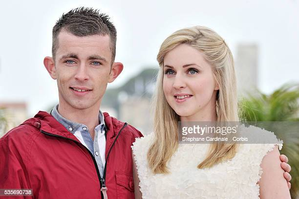 Paul Brannigan and Siobhan Reilly at the photo call for The Angel's Share during the 65th Cannes International Film Festival