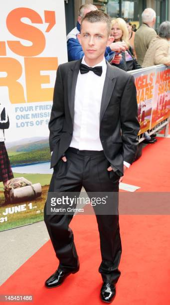 Paul Brannigan attends the The Angels' Share UK premiere at Cineworld Glasgow on May 29 2012 in Glasgow Scotland
