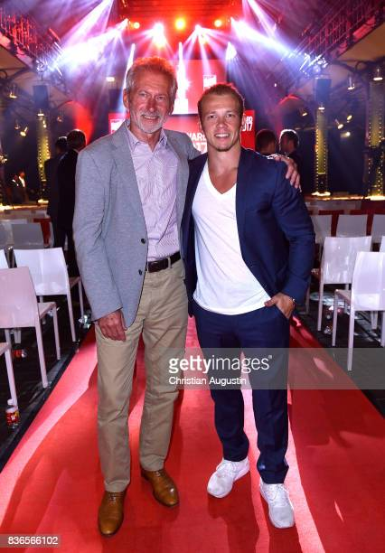 Paul Breitner and Fabian Hambuechen attend the Sport Bild Award at the Fischauktionshalle on August 21, 2017 in Hamburg, Germany.
