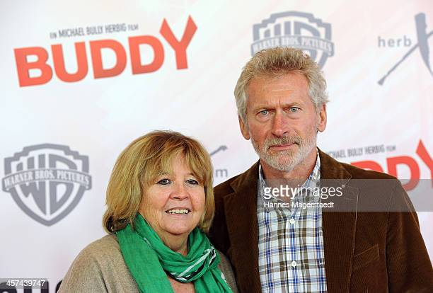Paul Breitner and his wife Hildegard attend 'Buddy' Premiere at Mathaeser Filmpalast on December 17 2013 in Munich Germany