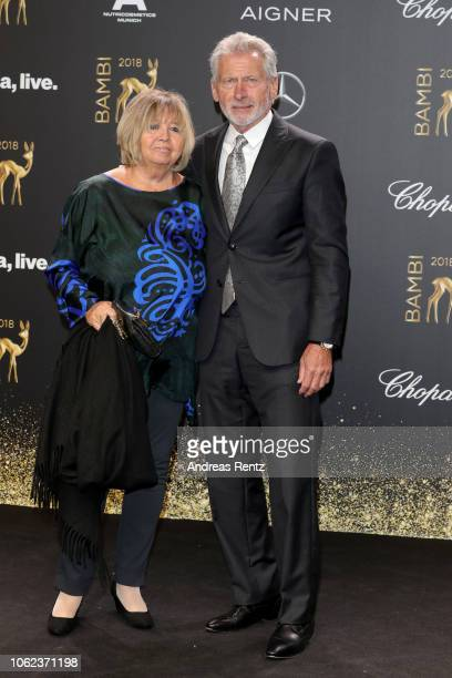 Paul Breitner and his wife Hildegard attend the 70th Bambi Awards at Stage Theater on November 16 2018 in Berlin Germany