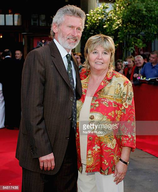 Paul Breitner and his wife Hildegard attend the Football Legends Night at Schmitz Tivoli Theatre on September 4 2005 in Hamburg Germany