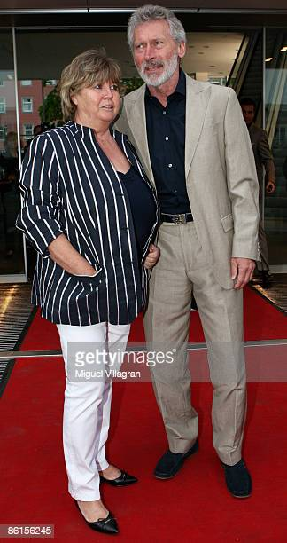 Paul Breitner and his wife Hildegard Breitner pose for the media during the 'Audi Summer Reception' on April 22 2009 in Munich Germany
