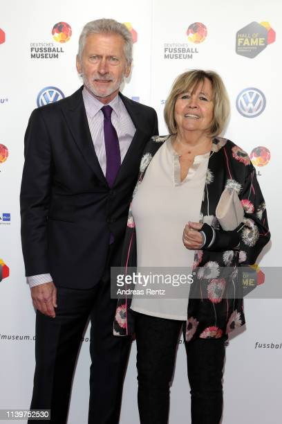 Paul Breitner and his wife Hildegard Breitner the Hall Of Fame gala at Deutsches Fussballmuseum on April 01 2019 in Dortmund Germany