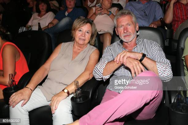 Paul Breitner and his wife Hildegard Hilde Breitner during the 'Griessnockerlaffaere' premiere at Mathaeser Filmpalast on August 1 2017 in Munich...