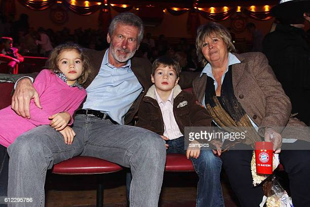 Paul Breitner and wifeHildegard Breitner during the Bayern Munich Christmas Party at Circus Krone in Munich Germany