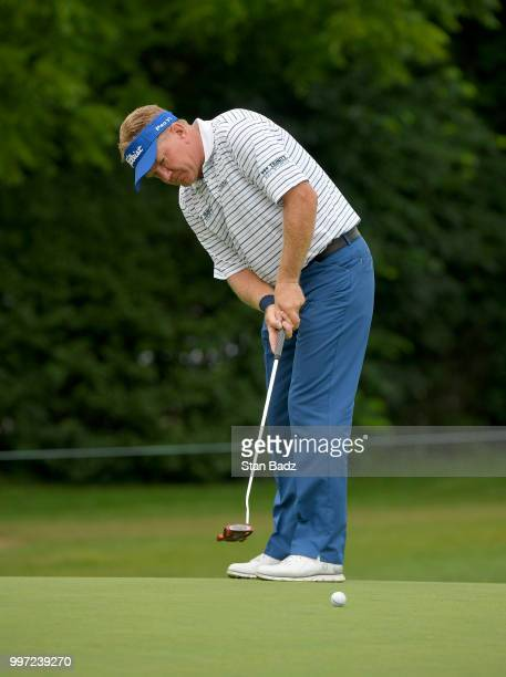 Paul Broadhurst hits a putt on the third hole during the first round of the PGA TOUR Champions Constellation SENIOR PLAYERS Championship at Exmoor...